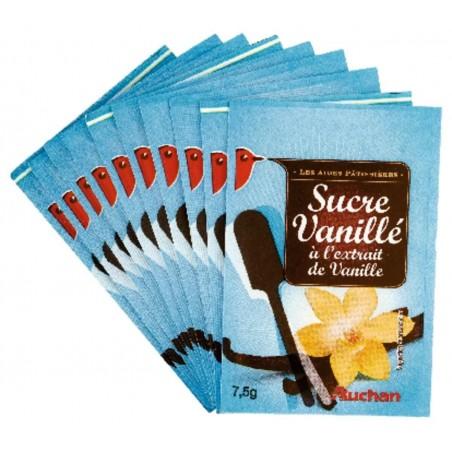 Auchan sucre vanillé 75g