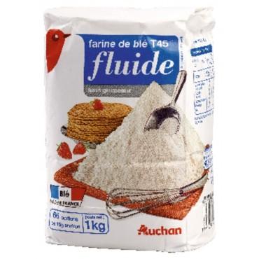 Auchan farine de blé fluide...