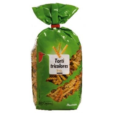 Auchan torti pâtes tricolores