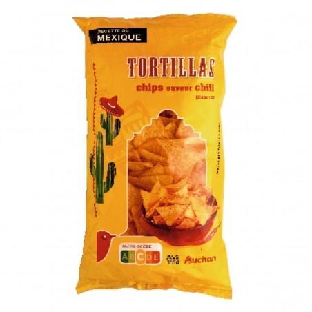 Auchan tortilla chips chili 185g