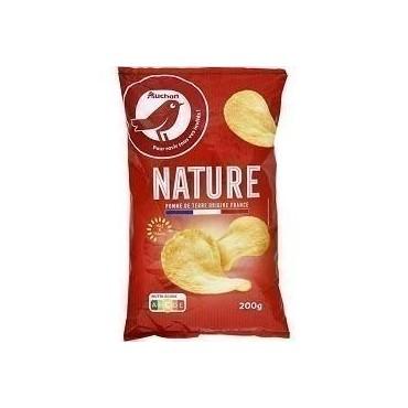 Auchan chips nature 200g