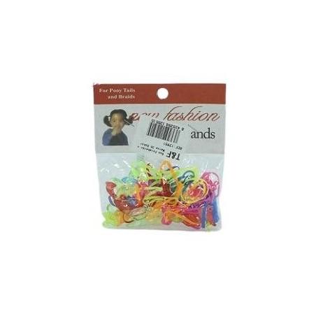 Elastiques & perles multicolores cheveux