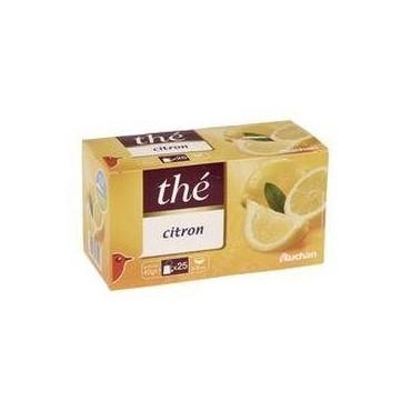 Auchan thé citron 25 sachets