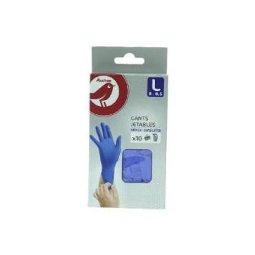 Auchan gants fin nitrile...