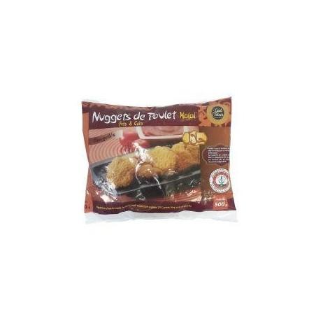 Nuggets de poulet halal frits et cuits surgelés 500g
