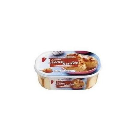 Auchan glace crème brulée 473,5g