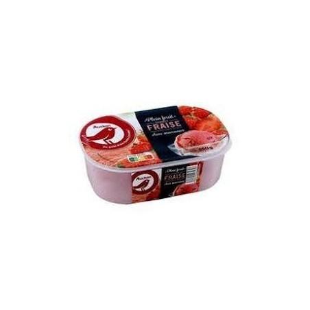 Auchan glace sorbet fraise 650g