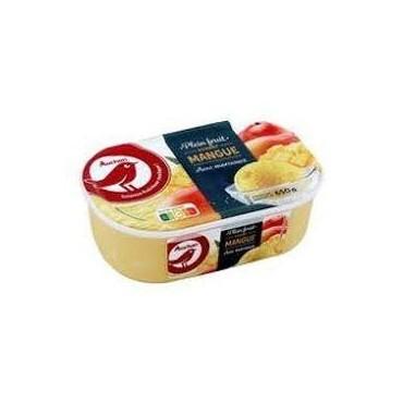 Auchan glace sorbet mangue...