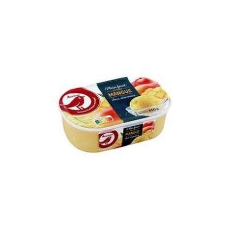 Auchan glace sorbet mangue 650g