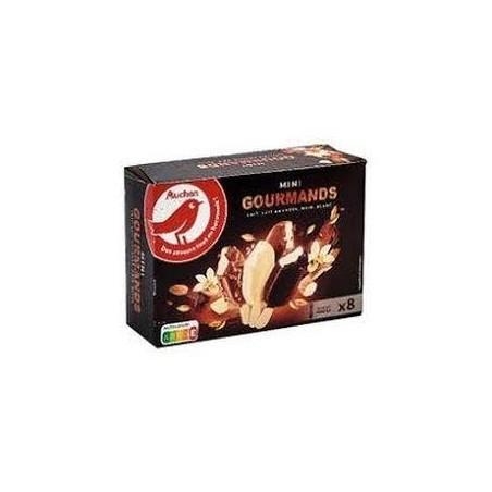 Auchan glace mini gourmands 8 bâtonnets chocolat 258g