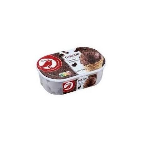 Auchan glace chocolat avec morceaux 536g