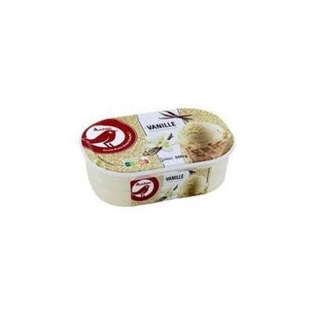 Auchan glace vanille 500g