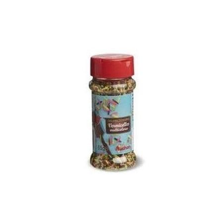 Auchan vermicelles multicolores pâtissières 65 g