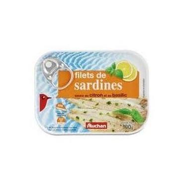 Auchan filets de sardines...