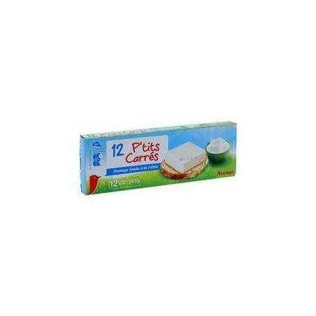 Auchan 12 P\'tits carrés de fromage fondu à la crème 240 g