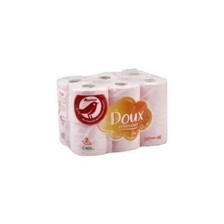 Auchan Papier Toilette Rose Maxi X12