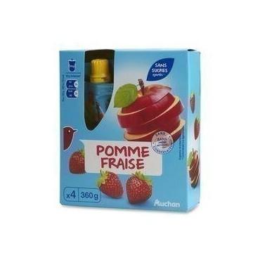 Auchan Gourdes Pomme Fraise...