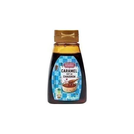 AUCHAN Nappage dessert caramel 210g