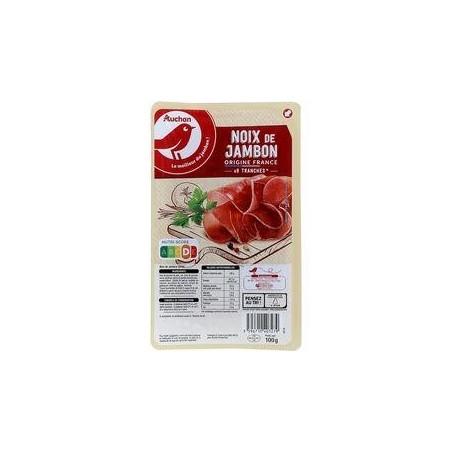 AUCHAN Noix de jambon 8 tranches 100g