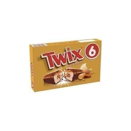 TWIX Barre glacée au caramel, biscuit et enrobage cacao 6 pièces 258g