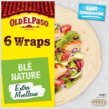 Old El Paso wraps de blé...