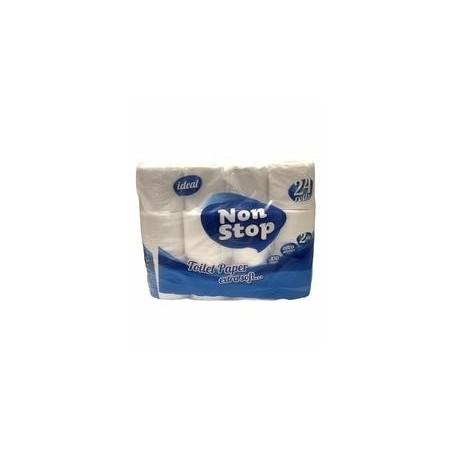 Non Stop papier toilette extra doux 2 plis x24 rouleaux