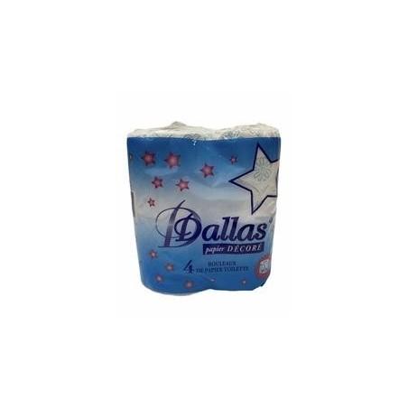 Dallas papier toilette décoré x4 rouleaux