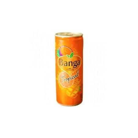 Banga boisson gazeuse sucrée Tropical canette 250ml
