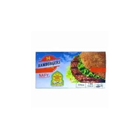Nafy viande hamburgers Halal 14 pièces boîte 1Kg