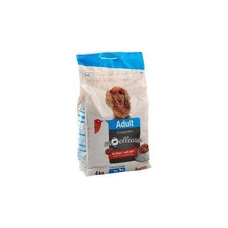 Auchan croquettes moelleuses au boeuf pour chiens sac de 4Kg
