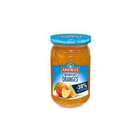 Andros marmelade d\'oranges allégée en sucres 350g