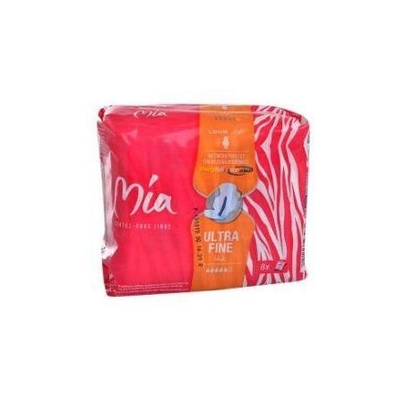 Mia serviettes hygiéniques long ultra fine x8 serviettes
