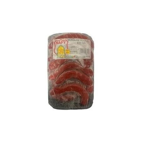 Nafy barquette merguez rouge surgelé 600g