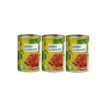 Auchan pulpe de tomate 3x400g