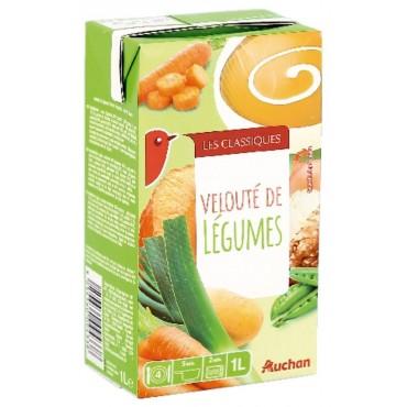 Auchan velouté de légumes 1L