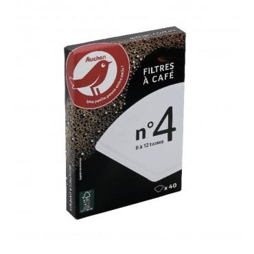 Auchan filtres à café n°4 x40