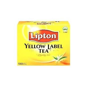 Lipton yellow tea label 100...