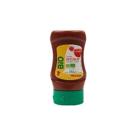 Auchan Bio ketchup top down 282g