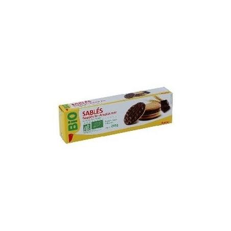 Auchan Bio biscuits nappés chocolat noir