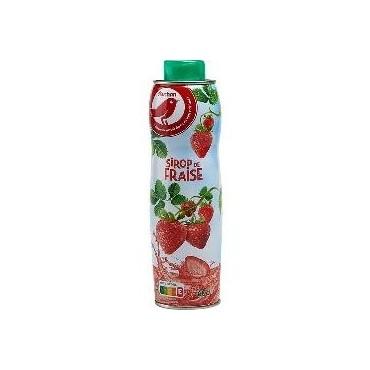 Auchan sirop fraise 60cl