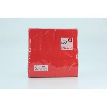 Actuel serviettes rouge...