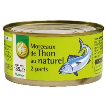 Pouce morceaux de thon au...