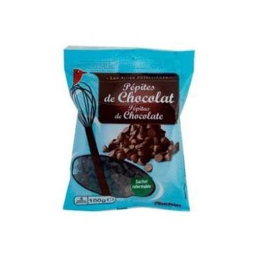 PEPITES CHOCOLAT AUCHAN 100G
