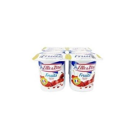 Elle&Vire dessert lacté cerise 125g l\'unité