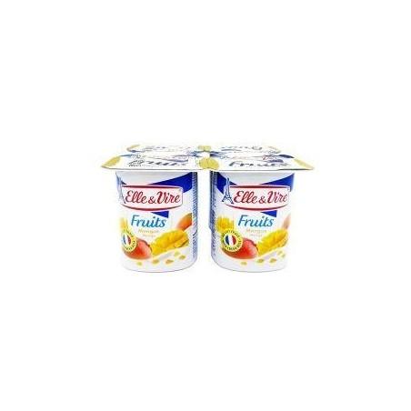 Elle&Vire crème dessert lacté mangue 125g l\'unité
