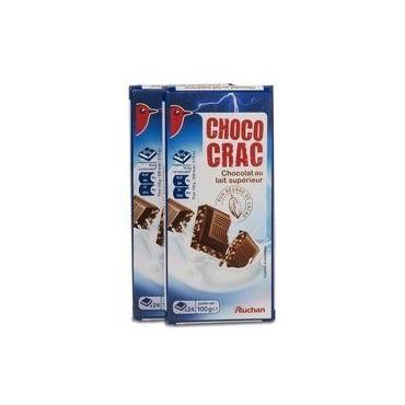Auchan chococrac lait 100g x2