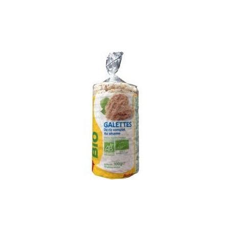 Auchan Bio galettes de riz complet au sésame 100g