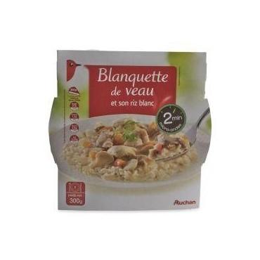 Auchan riz blanquette veau...