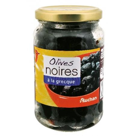 Auchan olives noires à la grecque 235g