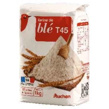 Auchan farine de blé t45